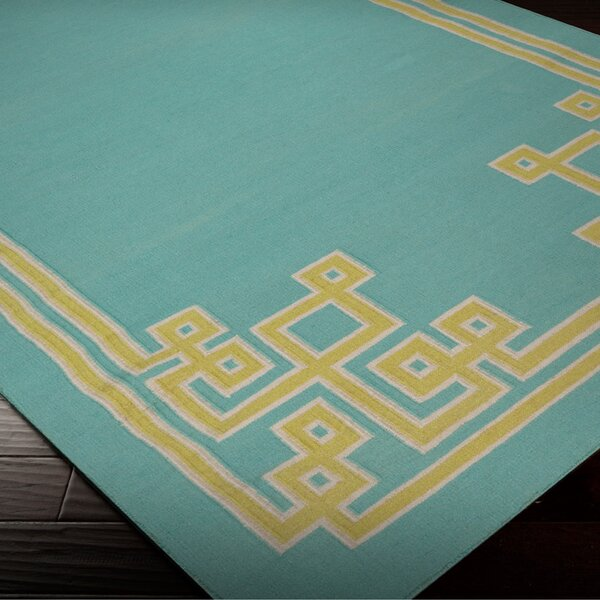 Ermont Sky Blue Area Rug by Mercer41