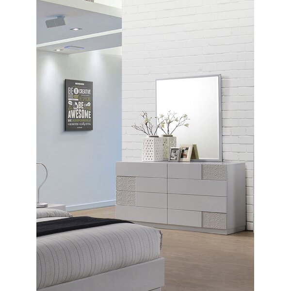 Lyset 8 Drawer Double Dresser with Mirror by Latitude Run