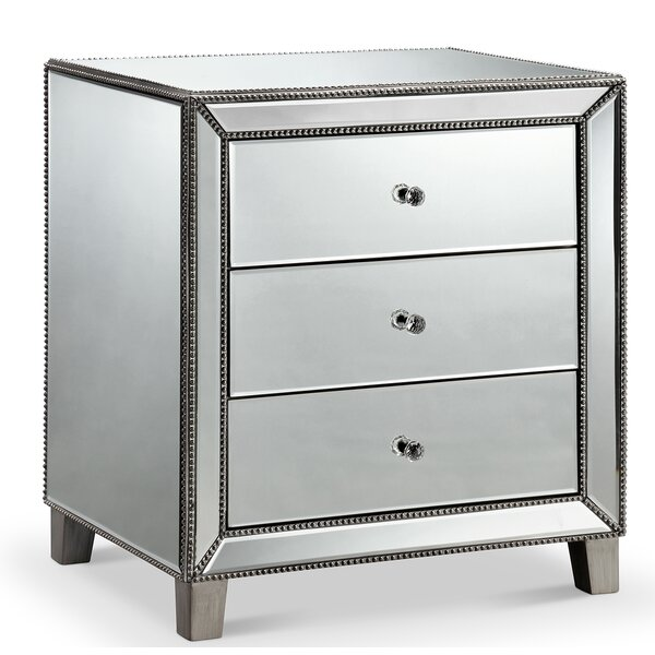 Sheldon 3 Drawer Nightstand by Everly Quinn