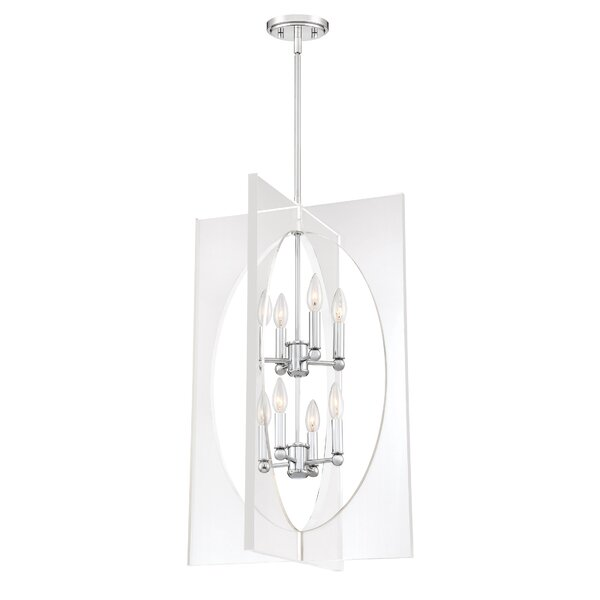 Reichert 8-Light Candle Style Rectangle / Square Chandelier by Orren Ellis Orren Ellis