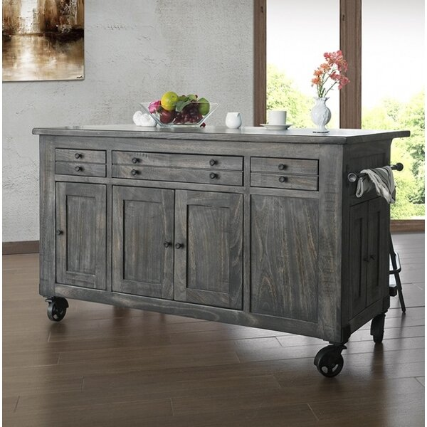 Hinson Kitchen Island by Gracie Oaks