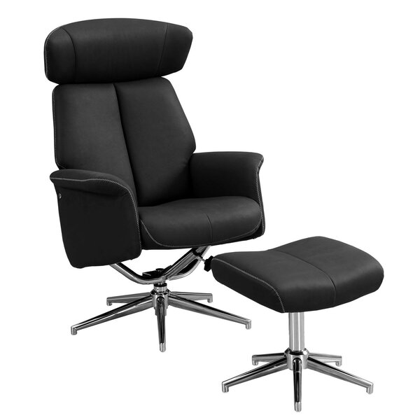 Maag Manual Swivel Recliner With Ottoman By Ivy Bronx