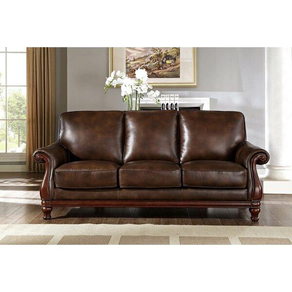 Fleur De Lis Living Autumn Top Grain Leather Sofa | Wayfair