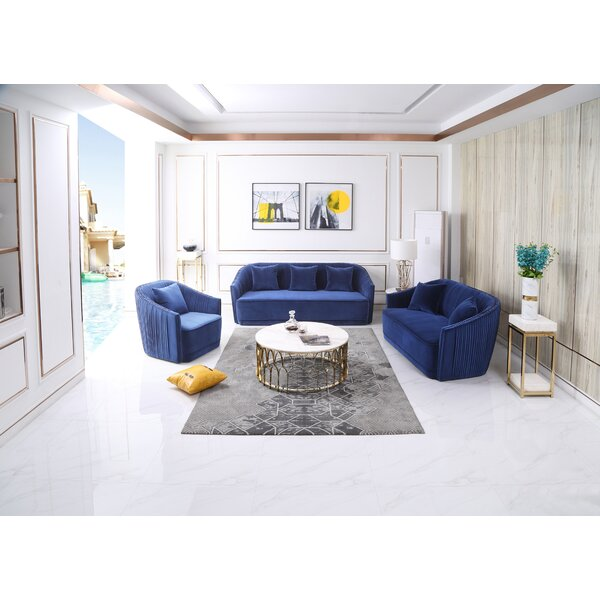 Marshfield 3 Piece Living Room Set by Everly Quinn