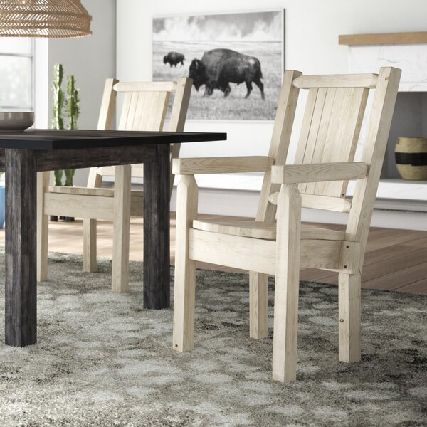 Abella Hand-Crafted Captain's Solid Wood Dining Chair by Loon Peak