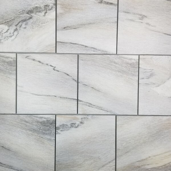 Nature 8 x 8 Glass Wood Look Tile in Créma Cielo by Abolos