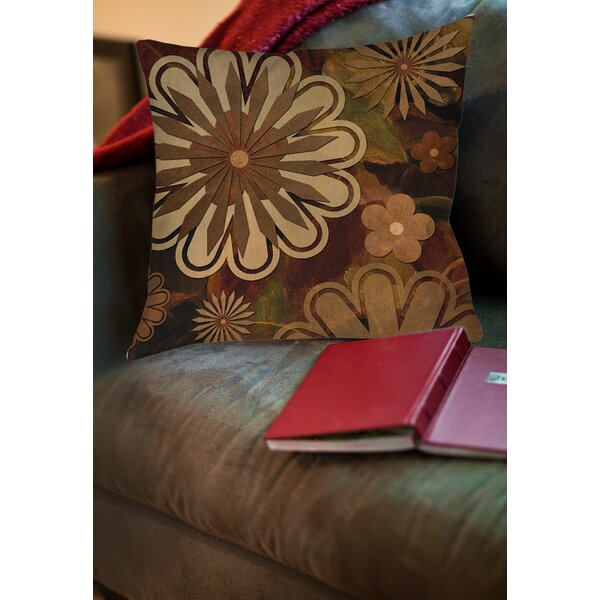 Floral Abstract I Printed Throw Pillow by Manual Woodworkers & Weavers