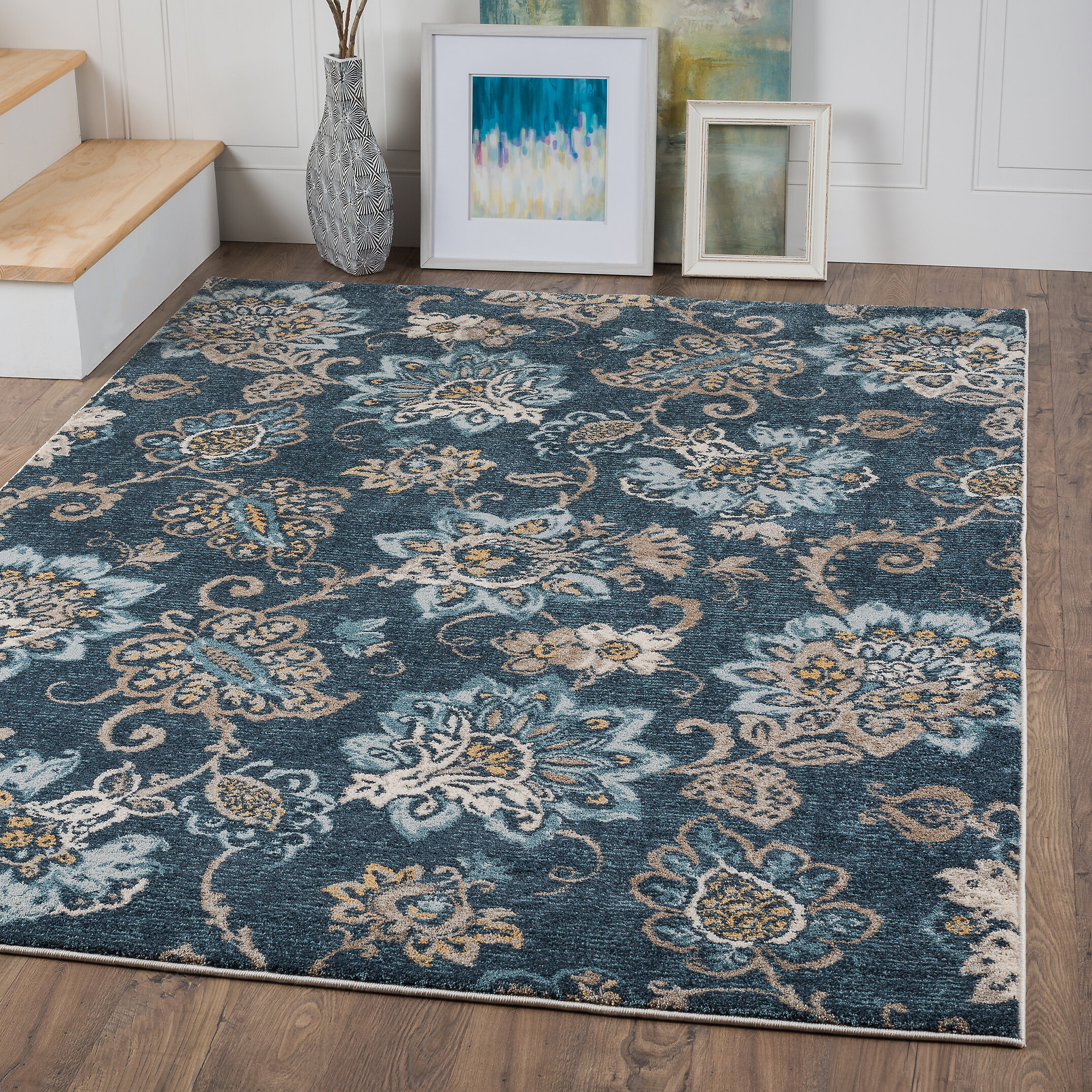 rug area modern navy of products bedroom copy addiction blue contemporary