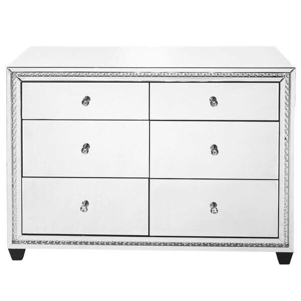 Laster Crystal 6 Drawers Double dresser by Rosdorf Park