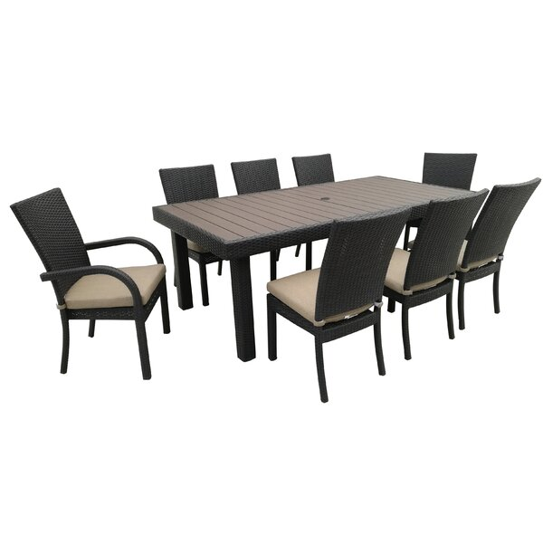 Keighley 9 Piece Dining Set with Cushions by Darby Home Co