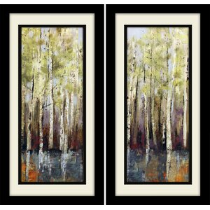 'Forest Whisper' Framed Painting Print by Alcott Hill