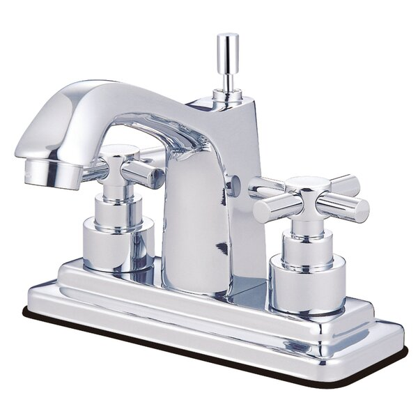 Tampa Centerset Bathroom Faucet with Double Cross Handles by Elements of Design Elements of Design