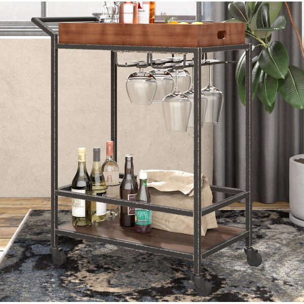 Jacqulyn 2 Tier Tube Bar Cart By Williston Forge.