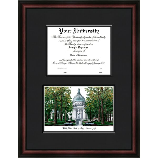 NCAA United States Naval Academy Diplomate Diploma Picture Frame by Campus Images