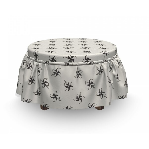 Childhood Toys Doodle Ottoman Slipcover (Set Of 2) By East Urban Home