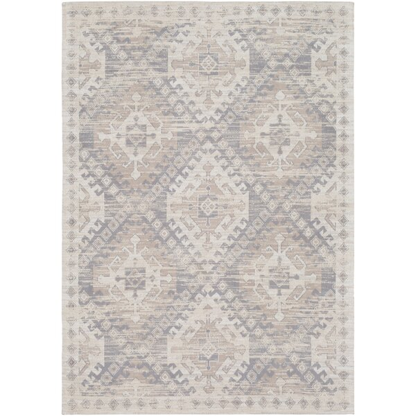 Hamza Hand-Woven Medium Gray/Taupe Area Rug by Bungalow Rose