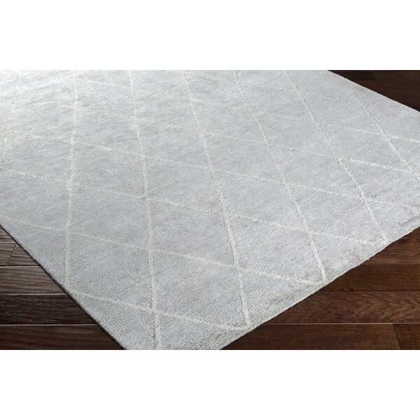Parkstone Hand-Knotted Ivory Area Rug by Darby Home Co