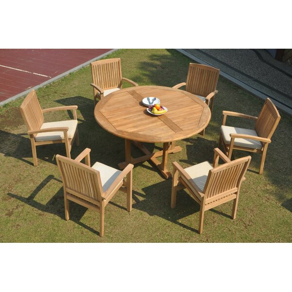 Cassidy 7 Piece Teak Dining Set by Rosecliff Heights