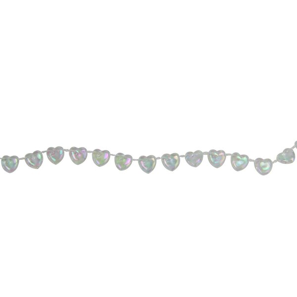 Heart Shaped Iridescent Beaded Christmas Garland by The Holiday Aisle