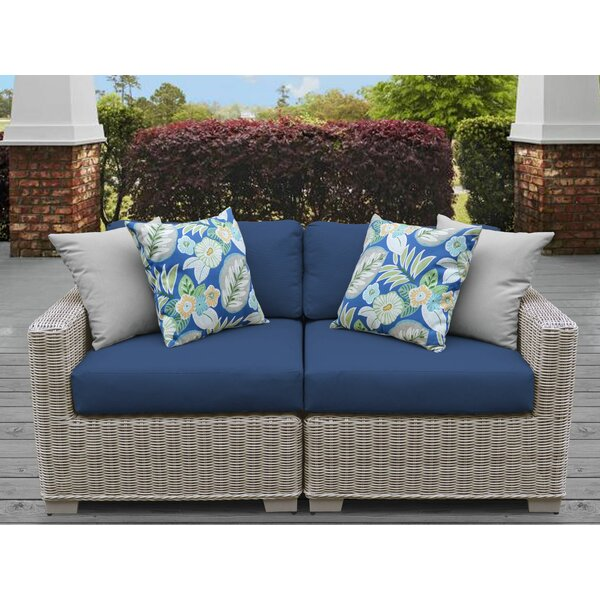 Claire Loveseat with Cushions by Rosecliff Heights
