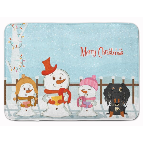 Christmas Wire Haired Dachshund Dapple Memory Foam Bath Rug by The Holiday Aisle