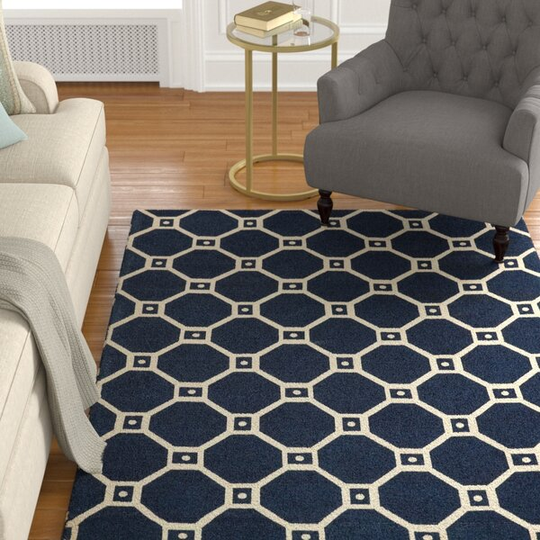 Argo Navy Area Rug by Charlton Home