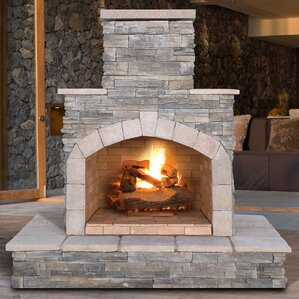 Cultured Stone Propane / Gas Outdoor Fireplace