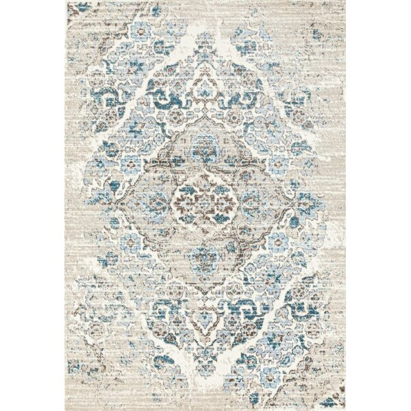 Paden Cream/Blue Area Rug by Lark Manor