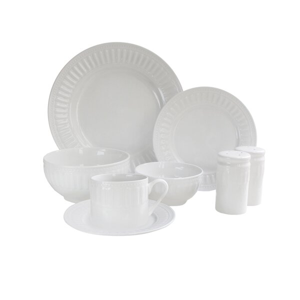 Sparta 50 Piece Dinnerware Set, Service for 8 by Design Guild