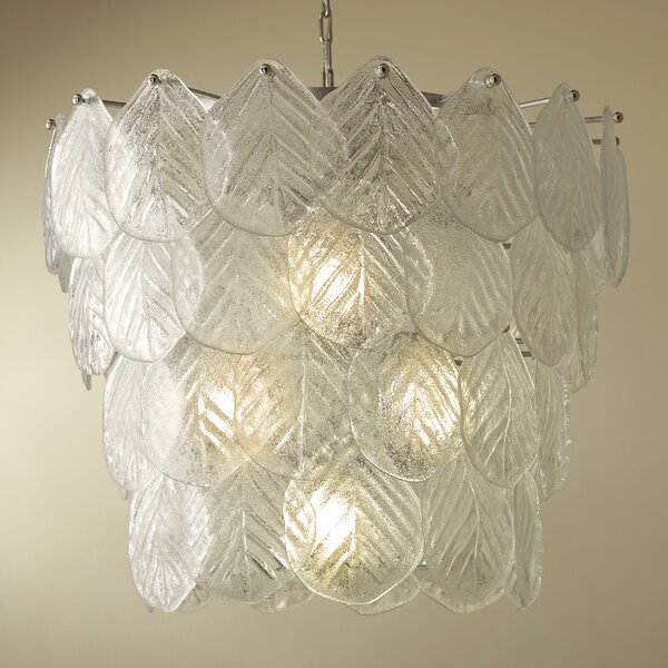 4 - Light Unique / Statement Tiered Chandelier By Global Views