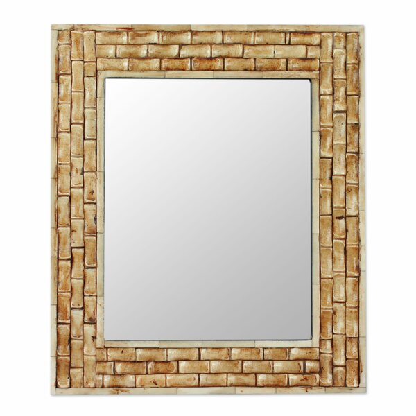 Whispering Bamboo Wall mirror by Novica