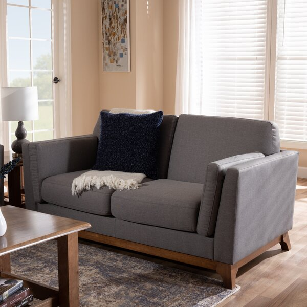 Our Offers Brummett Mid-Century Modern Loveseat by George Oliver by George Oliver