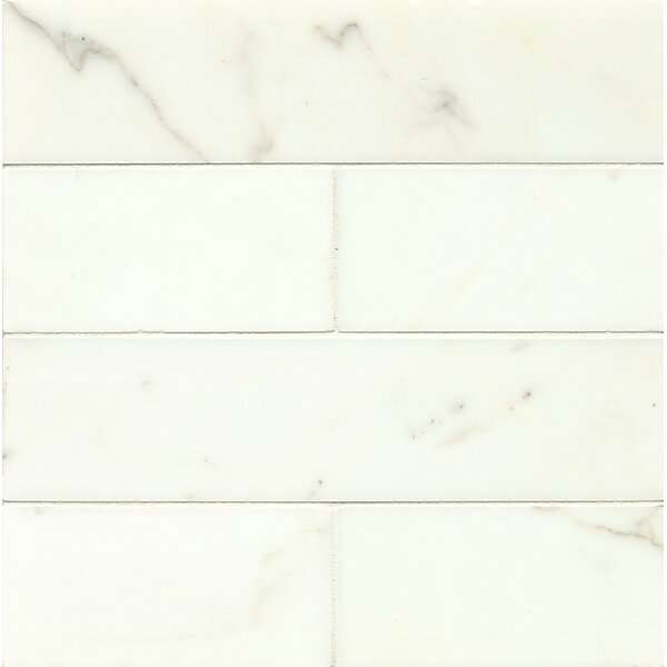 3 x 12 Marble Mosaic Tile in Calacatta Oro by Grayson Martin