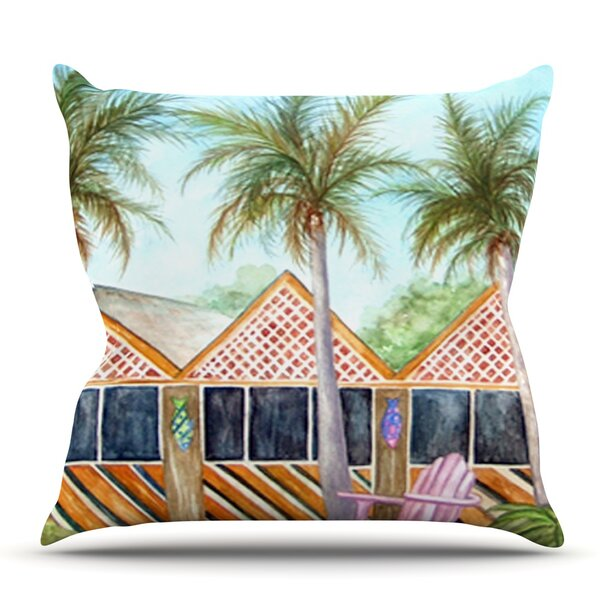 McT on Sanibel by Rosie Brown Outdoor Throw Pillow by East Urban Home