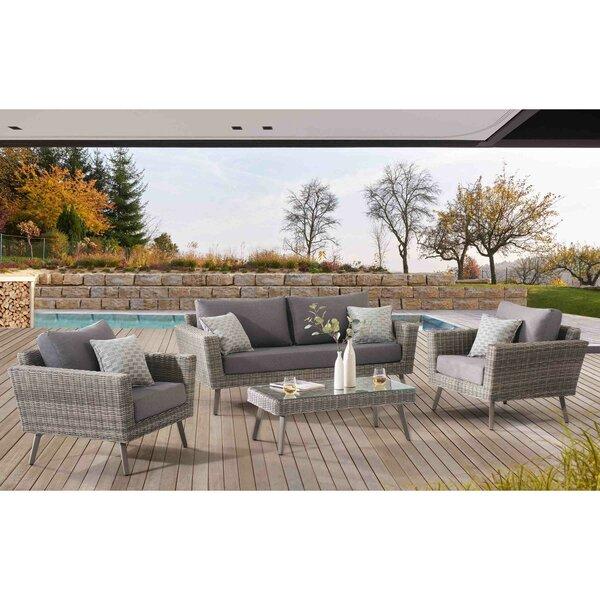 Kona Grove 4 Piece Sofa Set with Cushions by Corrigan Studio