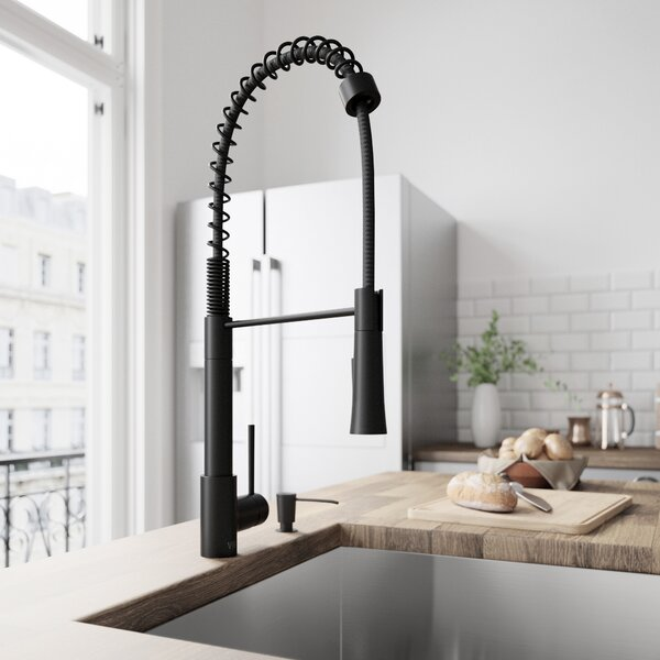 Laurelton Pull-Down Spray Kitchen Faucet With Soap Dispenser by VIGO