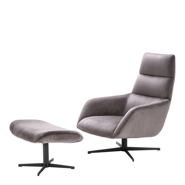Nautilus Lounge Chair and Ottoman by Eichholtz