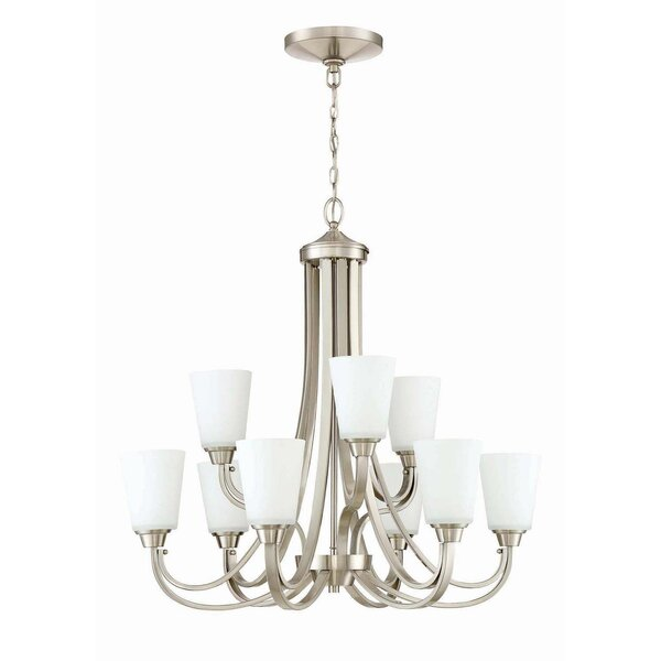 Colfax 9-Light Shaded Tiered Chandelier by Alcott Hill Alcott Hill