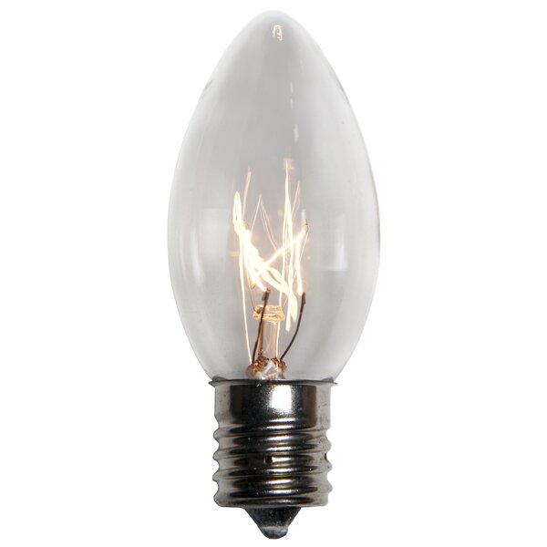 C9 Transparent 10W Bulb (Set of 25) by Wintergreen Lighting