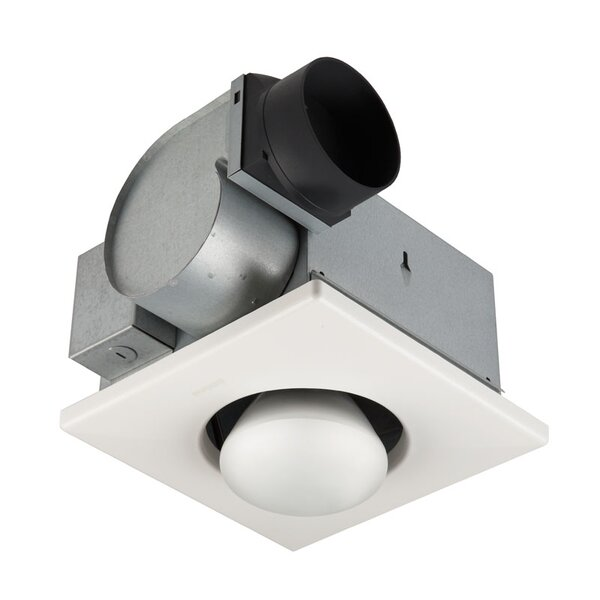70 CFM Bathroom Fan with One Bulb Heater by Broan