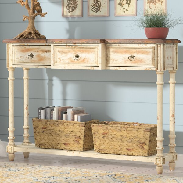 Preusser 3 Drawer Console Table by August Grove