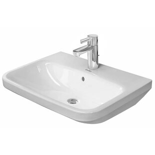 Budget DuraStyle Ceramic 22 Wall Mount Bathroom Sink with Overflow By Duravit