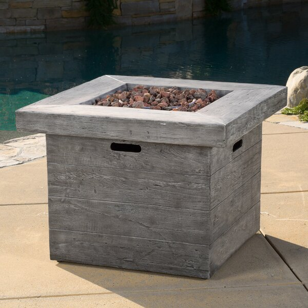 Tyne Polyresin Propane Fire Pit Table by Freeport Park