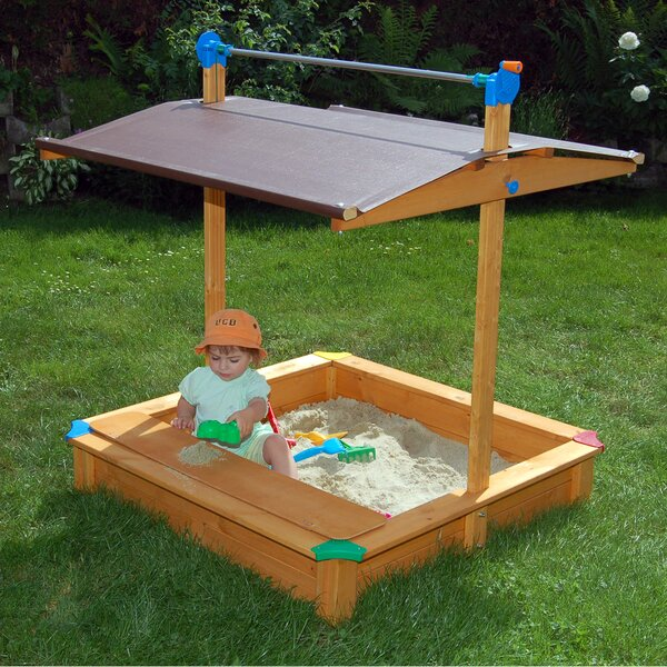 Maxi Square Sandbox with Cover by Exaco
