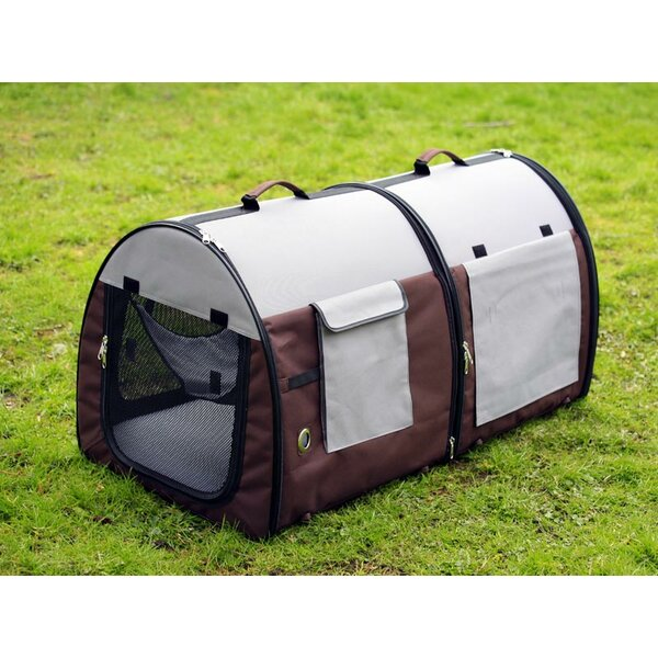 Double Fabric Portable Pet Crate/Carrier by Unison