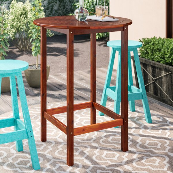 Hults Solid Wood Bar Table by Charlton Home