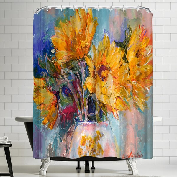 Richard Wallich Sunflowers Shower Curtain by East Urban Home