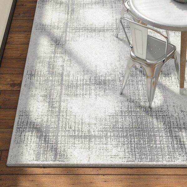 Bridgeton Distressed Modern Gray/Cream Abstract Area Rug by Greyleigh