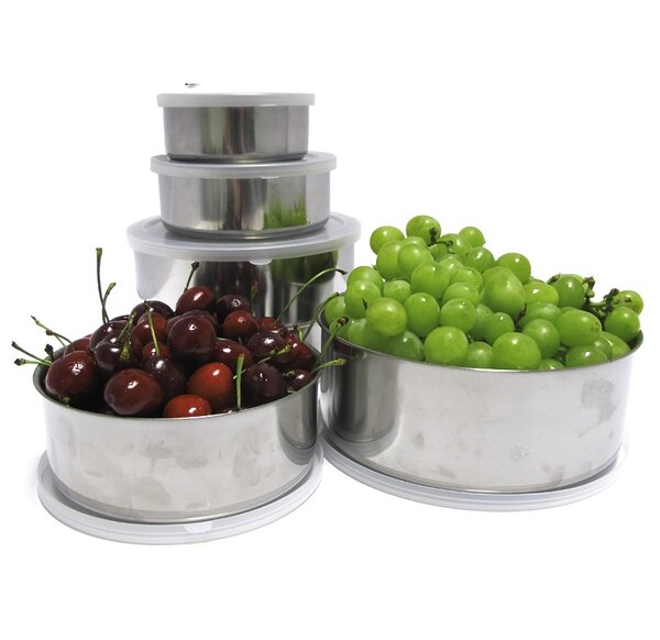 20 Piece Stainless Steel Mixing Bowl Set by Imperial Home