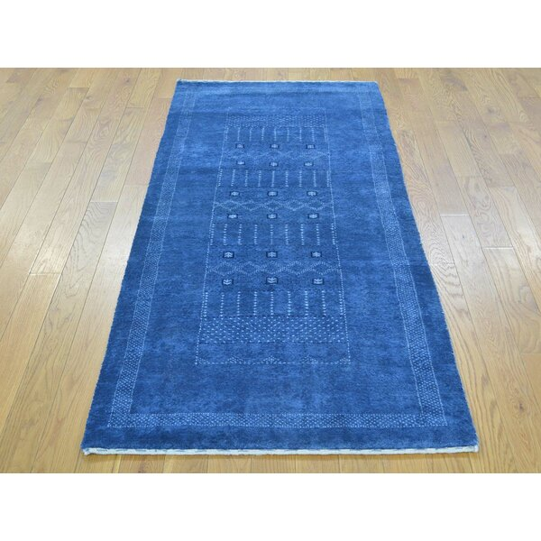 One-of-a-Kind Becker Lori Buft Hand-Knotted Blue Wool Area Rug by Isabelline